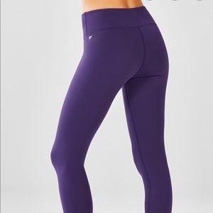 Fabletics Mid-Rise Powerhold Capri - Purple